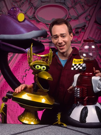 Robot roll call: Joel Hodgson and his robot friends are set to dock the Satellite of Love.