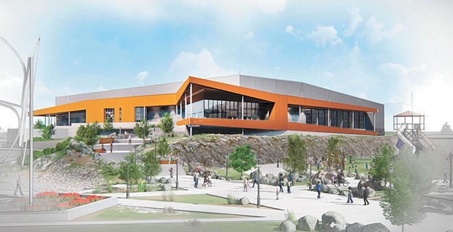 A rendering of the proposed Spokane Sportsplex. You know what this is not? A stadium. - COURTESY OF INTEGRUS ARCHITECTURE