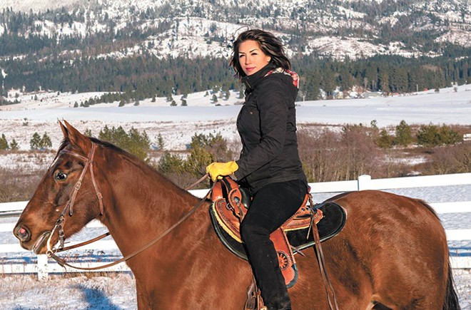 Will this photo of her rising a horse be enough to elevate Paulette Jordan to the Senate?