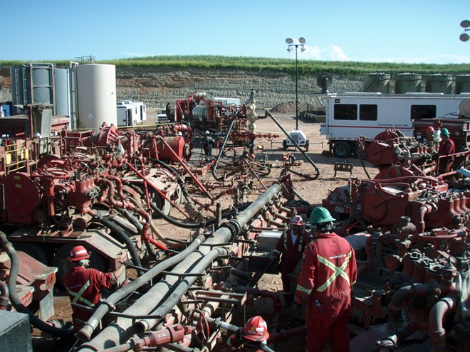 Fracking operations in North Dakota's Bakken Formation. - JOSHUA DOUBEK PHOTO