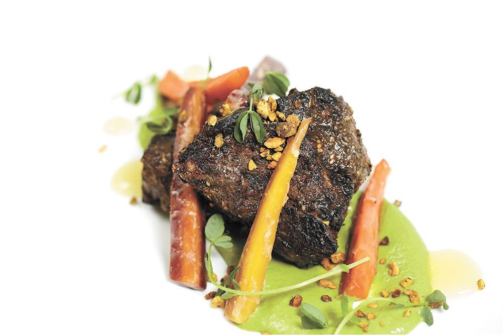 Spencer's za'atar-dusted lamb chops