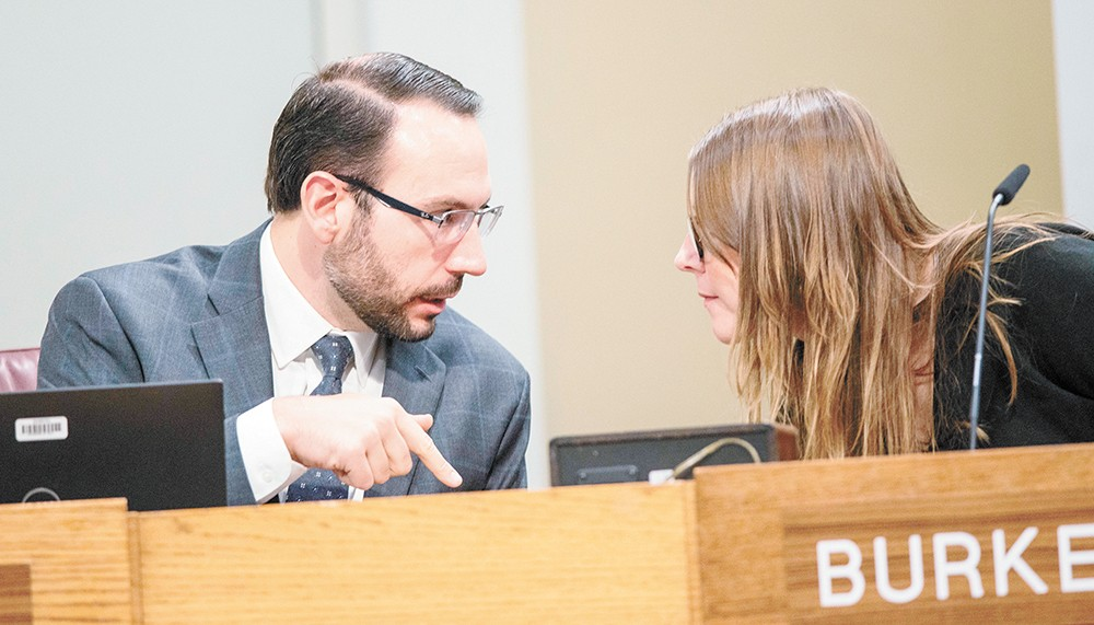 Conservative Councilman Michael Cathcart has found common ground with left-leaning Councilwoman Kate Burke. - DANIEL WALTERS PHOTO