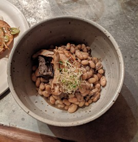 This wild mushroom cassoulet is rustic, country-style eating at its best. - CHEY SCOTT PHOTO