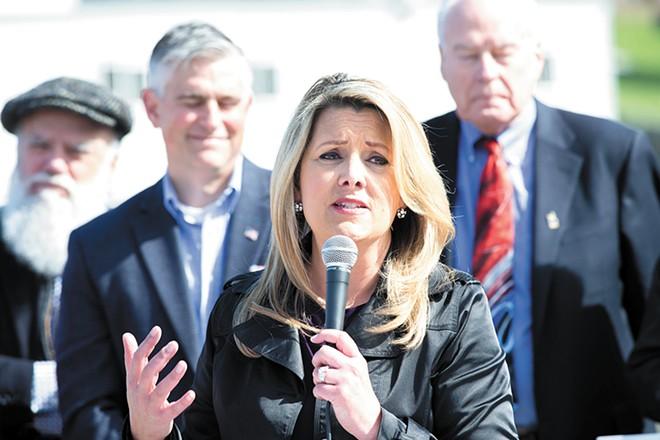 Mayor Nadine Woodward - DANIEL WALTERS PHOTO