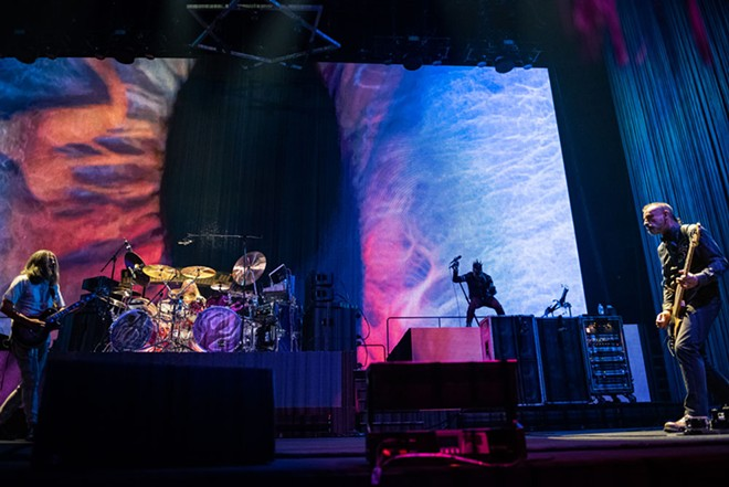 Tool is (left to right) Adam Jones, Danny Carey, Maynard James Keenan and Justin Chancellor. - ERICK DOXEY