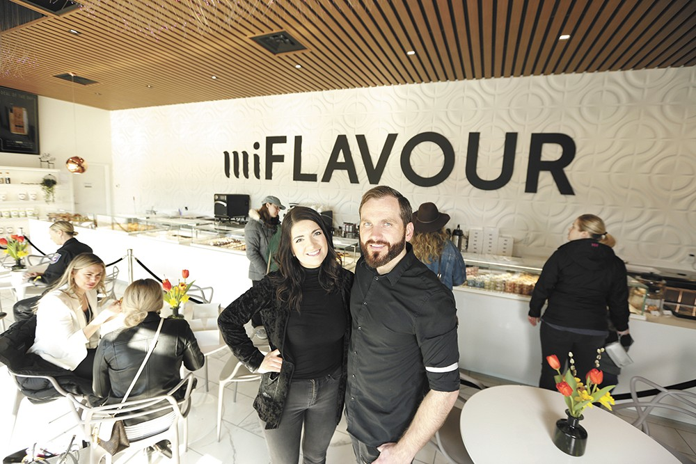 Owners Ella and Max Piskun opened miFlavour's cafe last fall. - YOUNG KWAK PHOTO