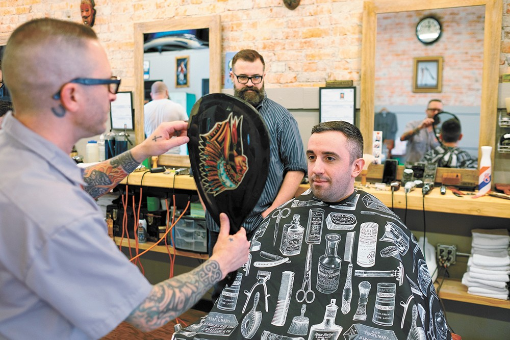 Brickyard Barbershop, with its location on North Monroe, came out on top. - HECTOR AIZON PHOTO