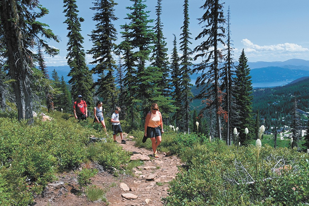 Readers said Schweitzer was the best spot for hiking. - SCHWEITZER MOUNTAIN RESORT PHOTO