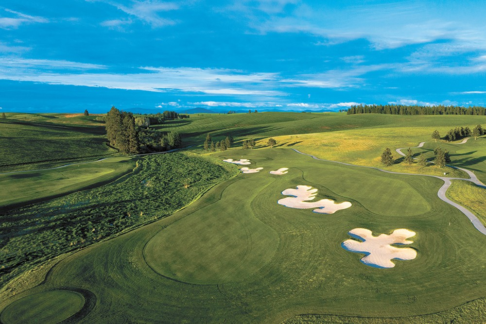 Eighteen holes at Circling Raven will have you crisscrossing bridges through wetlands, dodging trees in woodlands and finally cruising through lush Palouse grasses. - BRIAN OAR PHOTO