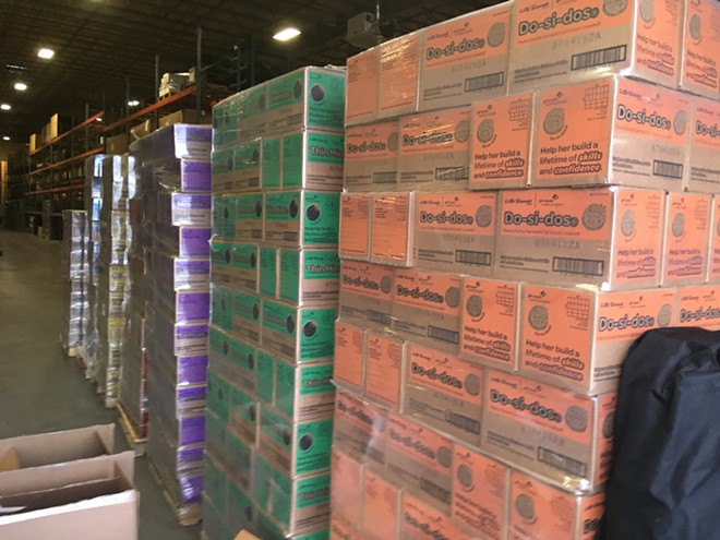 Hundreds of thousands of boxes of Girl Scout cookies are waiting in warehouses until it's safe for girls to sell and deliver them in the Inland Northwest. - GIRL SCOUTS OF EASTERN WASHINGTON AND NORTHERN IDAHO PHOTO