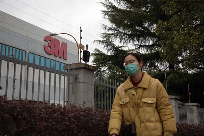 A 3M factory in Shanghai, China, on March 10, 2020. The Trump administration is seeking to use powers under a Korean War-era law to cut off 3M's ability to export surgical masks abroad and to claim more of the masks the Minneapolis company manufactures in other countries for use in the United States. - HENRI SHI/THE NEW YORK TIMES