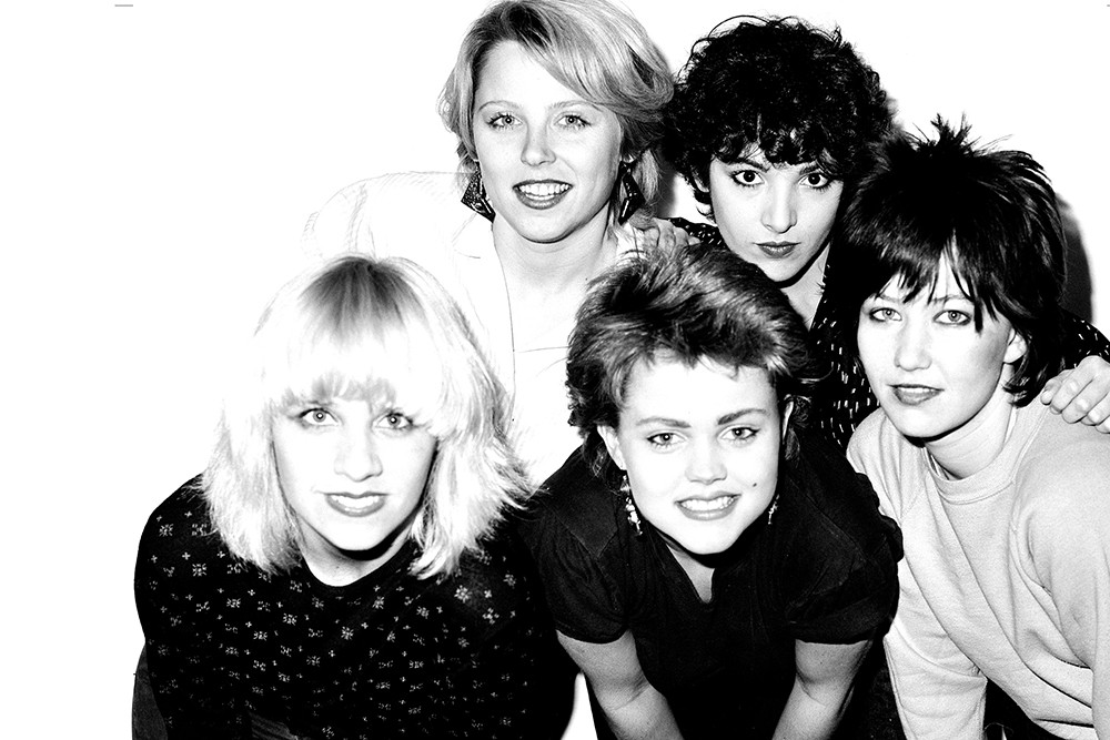 Kathy Valentine (right) and the Go-Go's. - JANETTE BECKMAN PHOTO