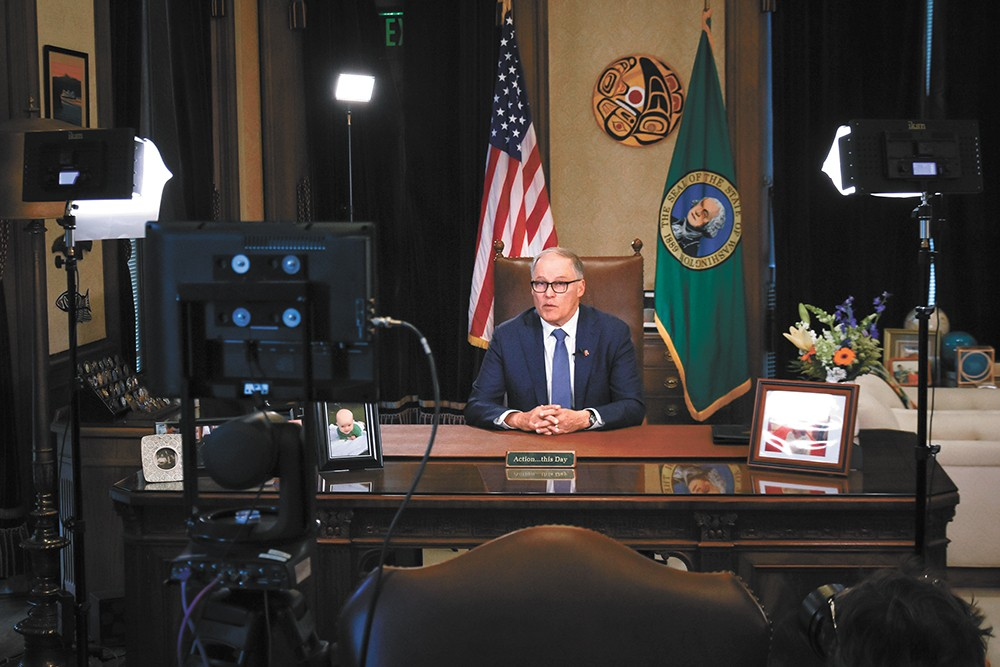 Washington Gov. Jay Inslee has been celebrated nationally for taking aggressive steps.