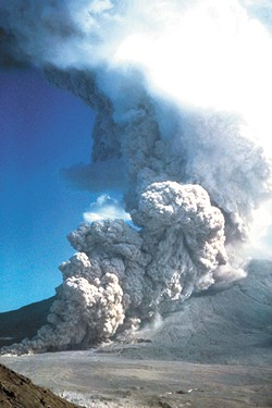 At least 17 flows of superheated ash, rock and gas descended the flanks 