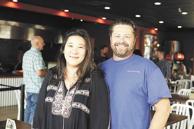 Roger's Ice Cream owners Nicole and Mark Randolph. - YOUNG KWAK PHOTO