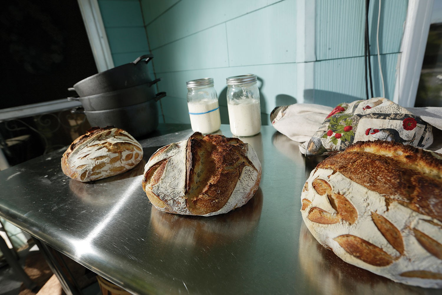 """Bread crafted by Stacie Kearney of Lucky Lady Bread, using her sourdough starter named """"Carl."""" - YOUNG KWAK PHOTO"""