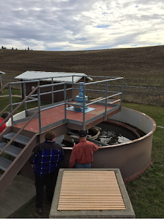A trickling filter at the town of Garfield's wastewater treatment plant. Their project will fix issues significantly affecting the plant function. - WASHINGTON STATE DEPARTMENT OF ECOLOGY