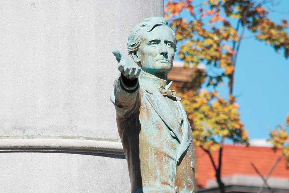 The statue of Confederate President Jefferson Davis in Richmond, Virginia, before it was removed. - OLEKINDERHOOK/CREATIVE COMMONS PHOTO