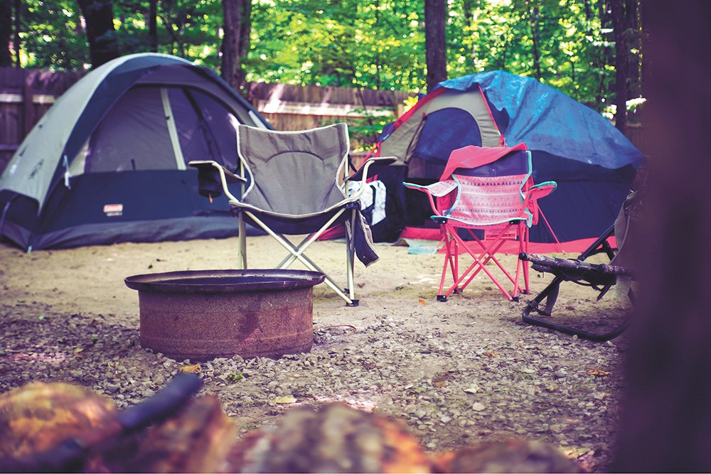 Camping is a perfect way to embrace life's simple comforts.