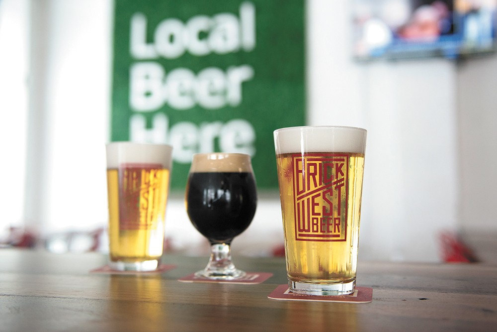 Brick West Brewing is delivering some of the best lagers in town. - DEREK HARRISON PHOTO