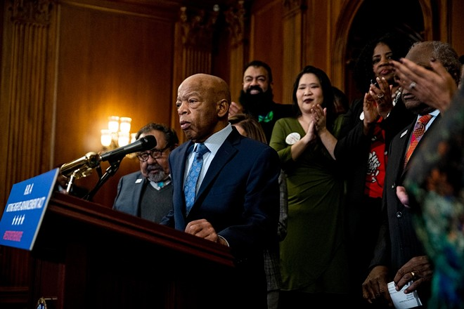 The late Rep. John Lewis (D-Ga.) - ANNA MONEYMAKER/THE NEW YORK TIMES