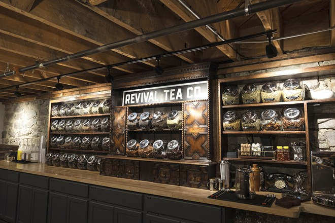 Revival Tea is located in the basement of a historic downtown building. - HECTOR AIZON PHOTO