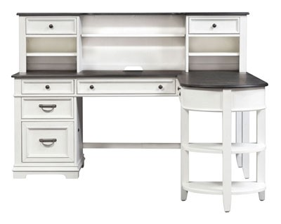 DESK PICK: Ample storage in this compact, cottage-styled package. — Libby Allyson Park L-Shaped DeskWalker's Furniture