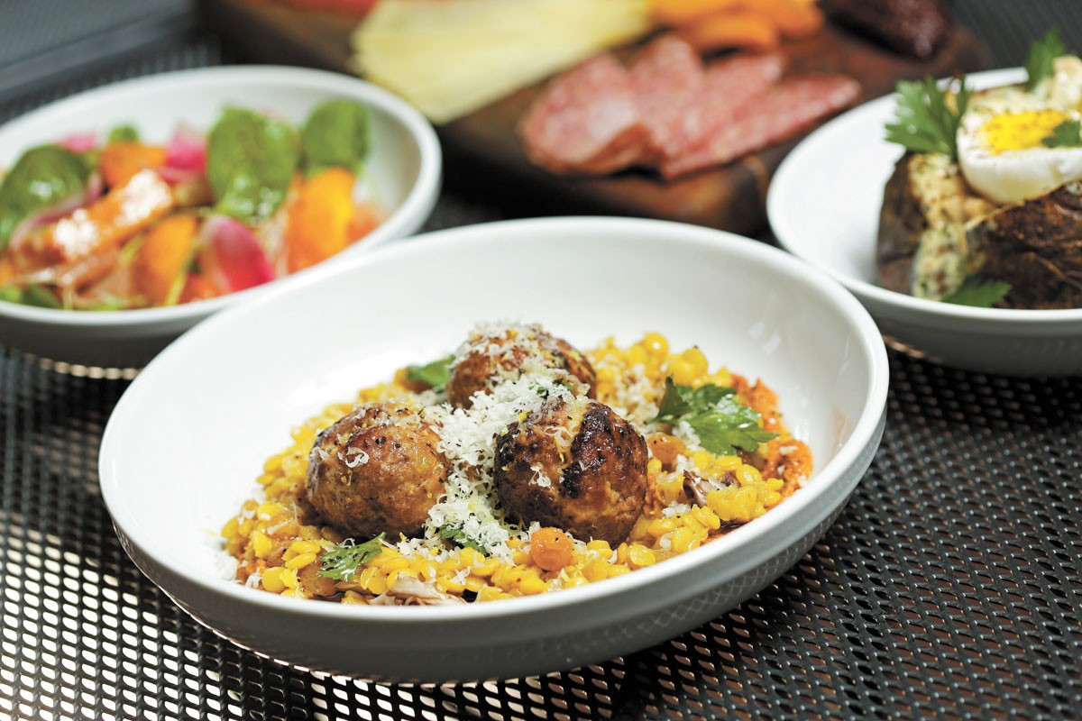 Lamb and pork albondigas are part of chef Chad White's new vision on Arbor Crest's menu. - YOUNG KWAK PHOTO