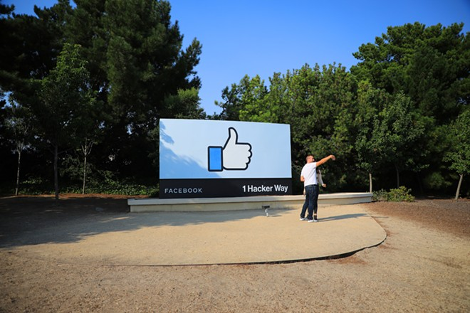 A sign at Facebook's headquarters in Menlo Park, Calif., July 15, 2020. In a letter to Facebook, twenty state attorneys general have called on the company to better prevent messages of hate, bias and disinformation from spreading, and said the company needed to provide more help to users facing online abuse. - JIM WILSON/THE NEW YORK TIMES