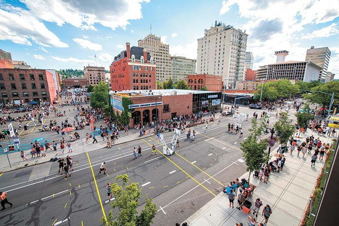 Spokane's streets won't fill for Hoopfest or Bloomsday this year, but you can still compete online. - ERICK DOXEY PHOTO