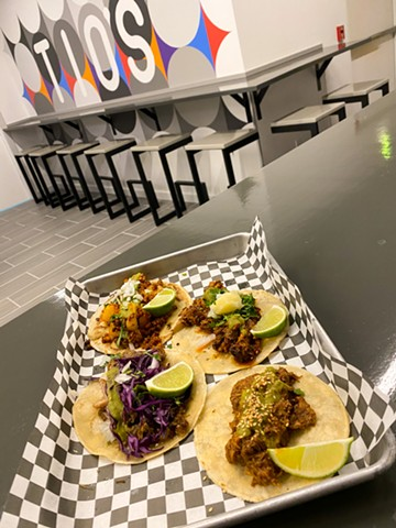 Street tacos and sandwiches at the two new, connected spots offer a quick food option for downtown workers and shoppers.