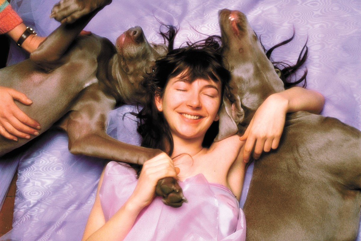 Kate Bush during the Hounds of Love cover shoot. - JOHN CARDER BUSH PHOTO