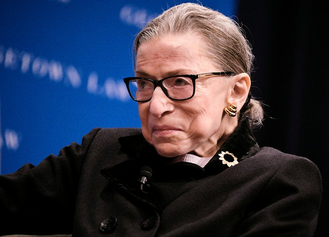 Justice Ruth Bader Ginsburg at the Georgetown Law Ginsburg Lecture in Washington, Oct. 30, 2019. - T.J. KIRKPATRICK/THE NEW YORK TIMES