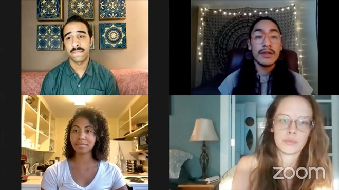 STAC speaks with Mathias Oliver (top left) and Vanessa Cole (bottom left) during a live stream panel discussion on Aug. 28.