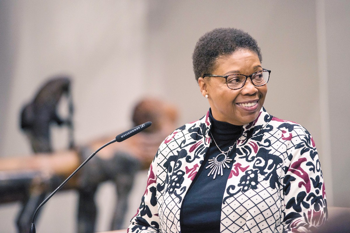Lisa Gardner sees echoes of her own grandmother in Spokane's sole Black councilwoman, Betsy Wilkerson (above). - DANIEL WALTERS PHOTO