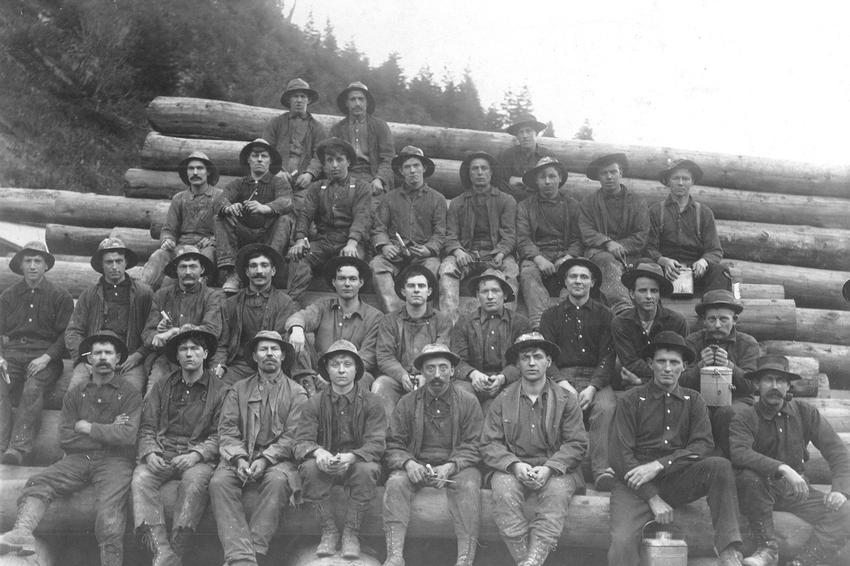 A group of miners in North Idaho, circa 1910.