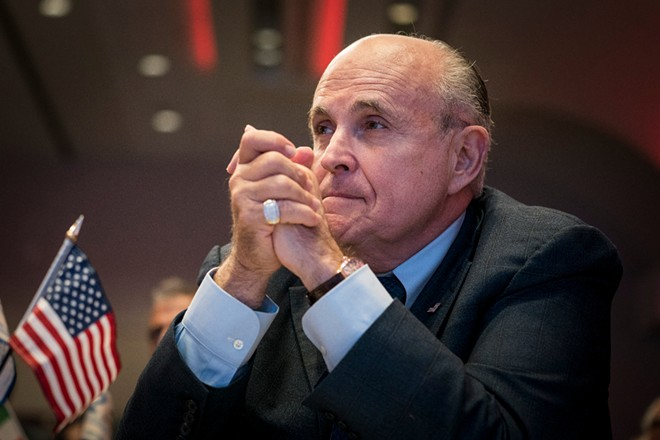 Rudy Giuliani, President Donald Trump's personal lawyer, at an event in Washington, May 5, 2018. - ERIN SCHAFF/THE NEW YORK TIMES
