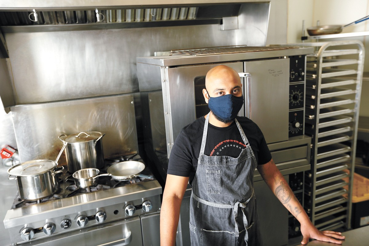 Shaarique Qureshi has expanded his No NAANsense Indian food business through delivery during the pandemic. - YOUNG KWAK PHOTO
