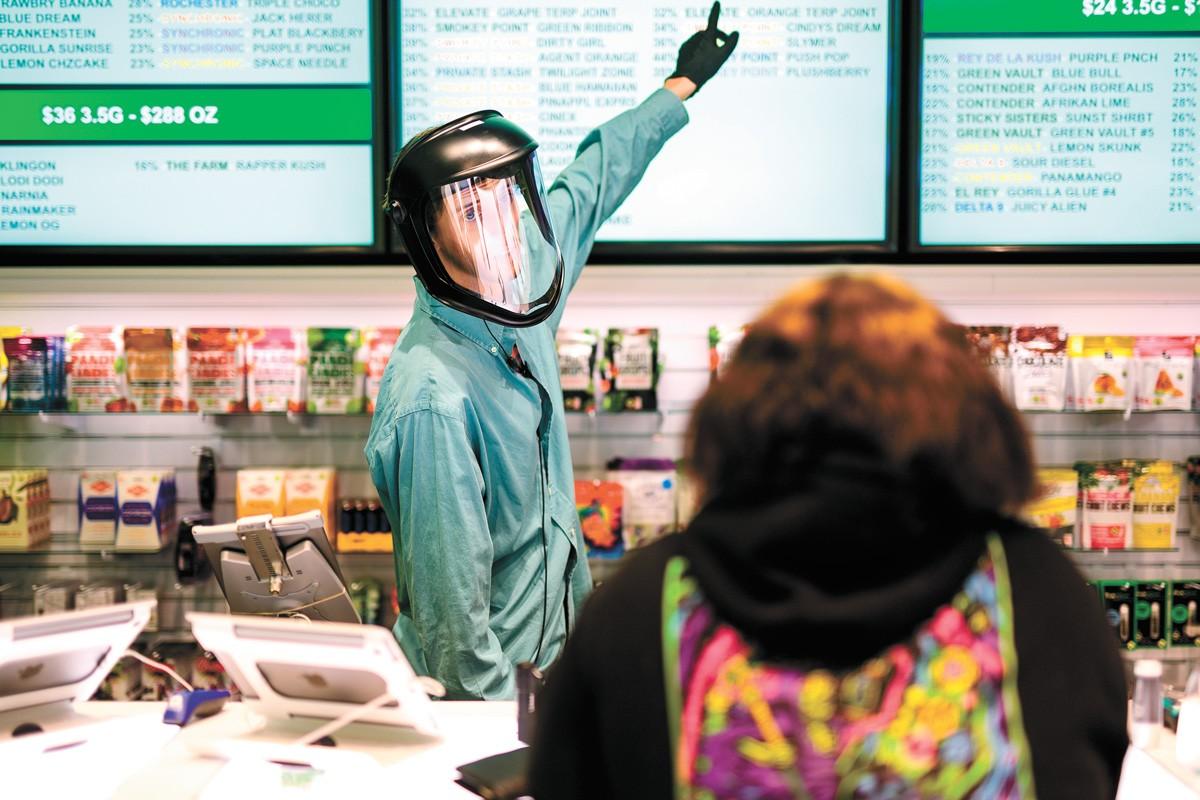 Washington pot shops sold $1.25 billion worth of cannabis in the 2109 fiscal year. - ADAM SCHLUTER PHOTO