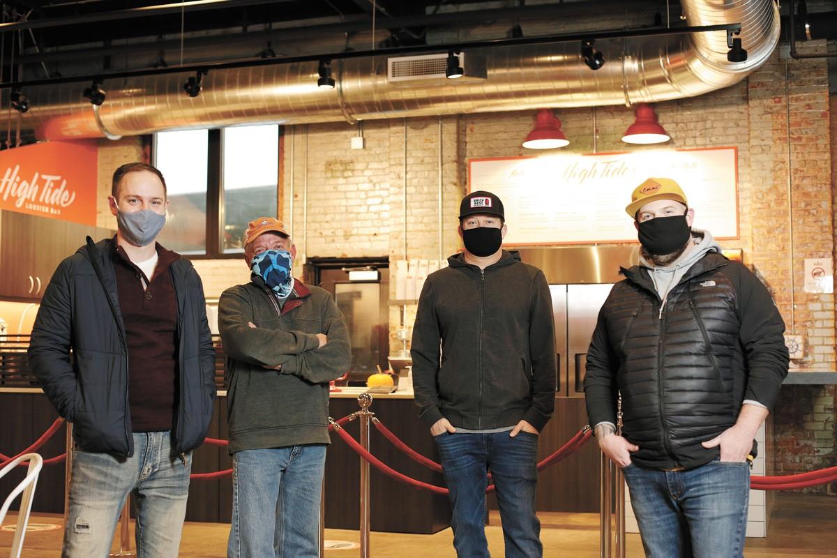 FROM LEFT: Spokane Hospitality Coalition founders Byran Toston, Mark Starr, Matt Goodwin and Chad White. - YOUNG KWAK PHOTO