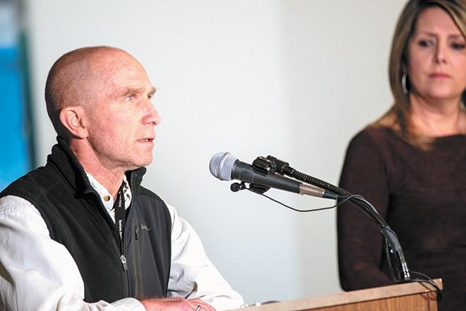 Community spread of COVID-19 is a major concern, according to Spokane Regional Health Officer Dr. Bob Lutz. - DANIEL WALTERS PHOTO