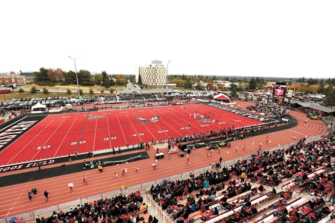 EWU is going to play football this spring. Whether or not fans will be at Roos Field to watch is still in question. - YOUNG KWAK