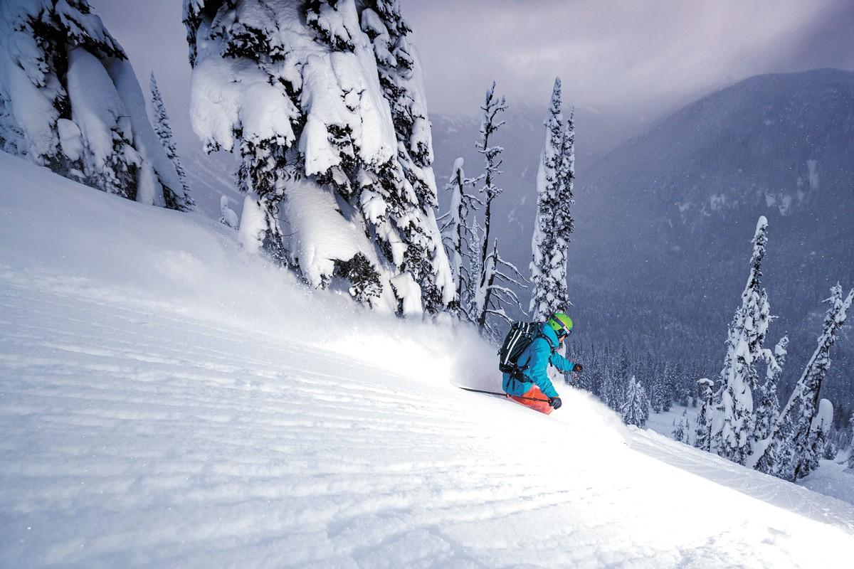 Adam Benson skiing at Keefer Lake Lodge. - GEOFF HOLMAN PHOTO