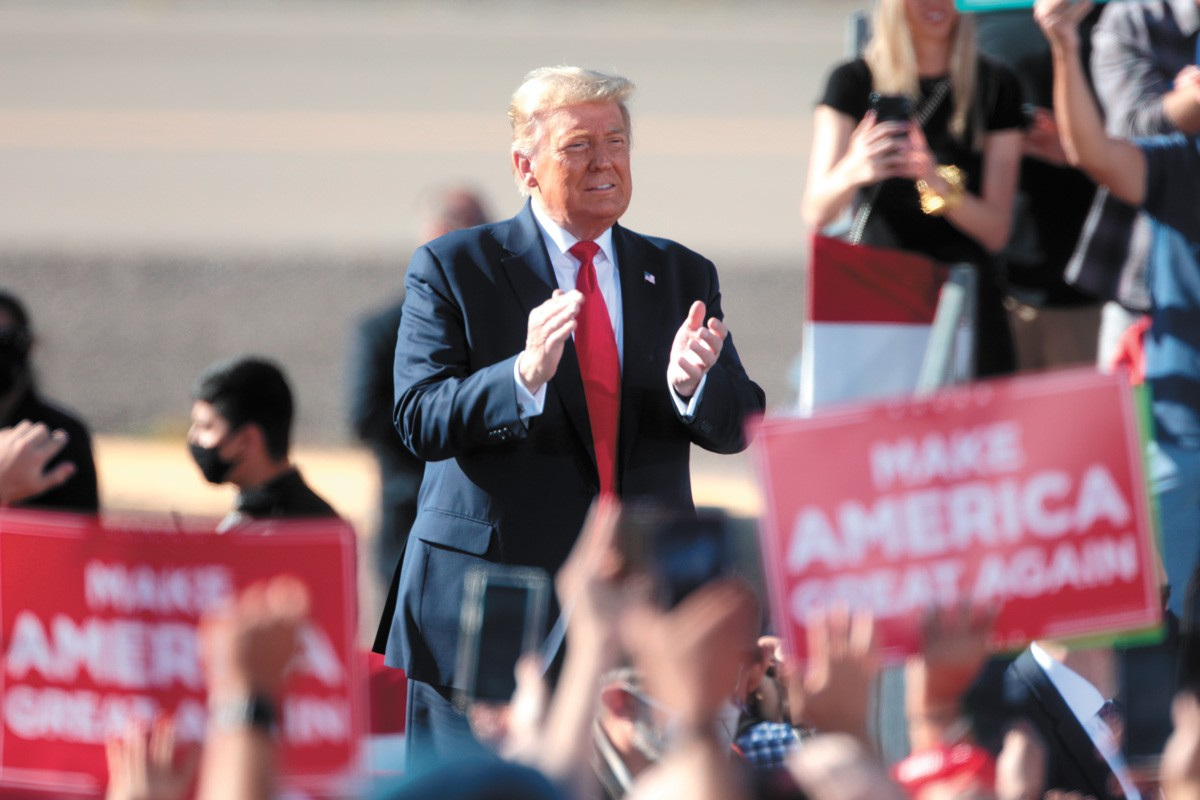 """I WON THE ELECTION,"" Trump insisted in an all-caps tweet Sunday night. In fact, he did not win the election, but Trump has lambasted the few Republicans or conservative news outlets who admit that. - GAGE SKIDMORE PHOTO"
