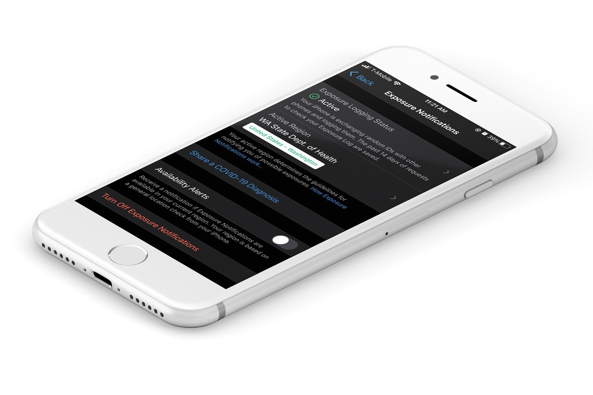 """To use WA Notify on an iPhone, enable Exposure Notifications in """"settings."""""""