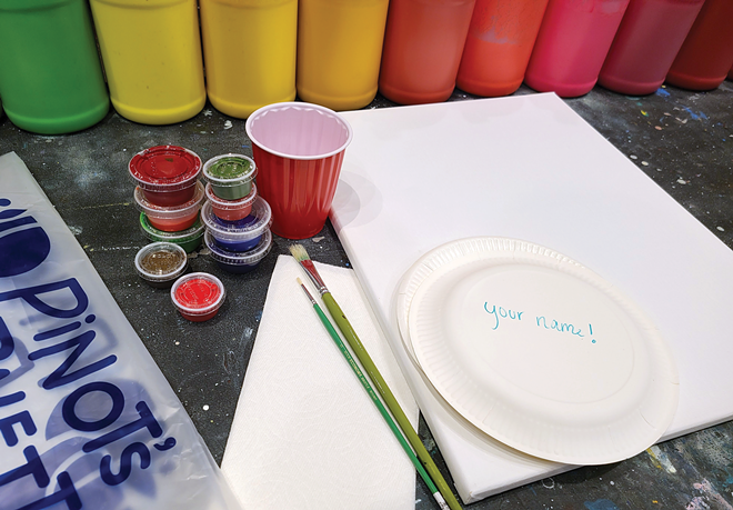 Pick up your craft kit at Pinot's Palette and get creative at home. - JESSICA PERRY PHOTO