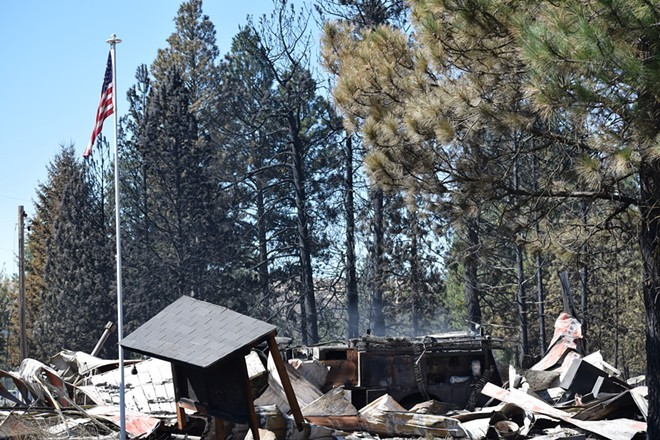 A wildfire in September burned down most structures in the town of Malden, including City Hall - WILSON CRISCIONE PHOTO