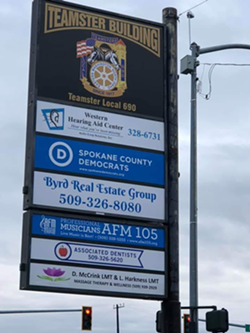 The Teamster Building, where a man confronted volunteers with a bomb threat and a manifesto - LORILEE GILL, COURTESY OF THE SPOKANE COUNTY DEMOCRATS.