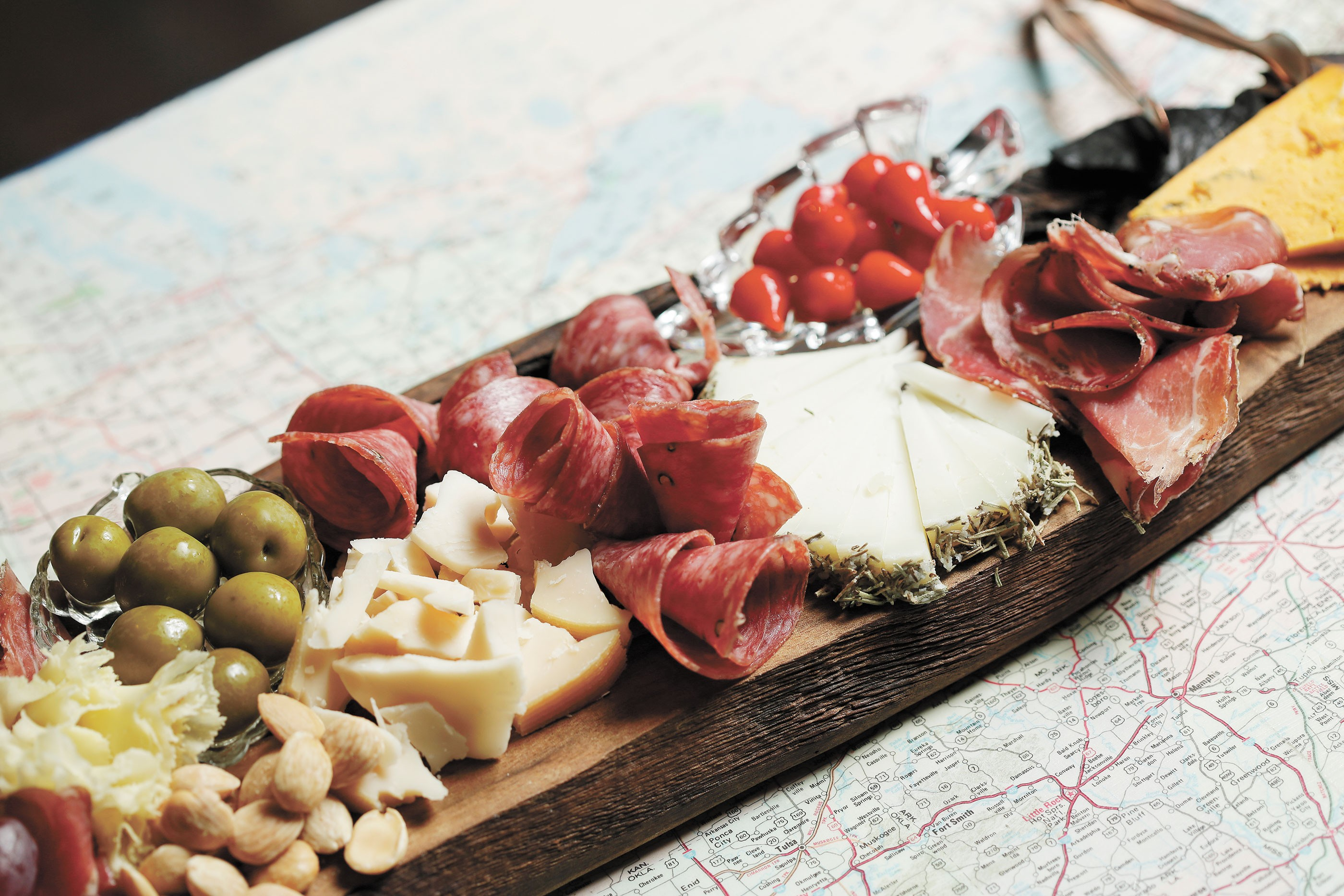 A cheese and charcuterie board at Wanderlust Delicato. - YOUNG KWAK PHOTO