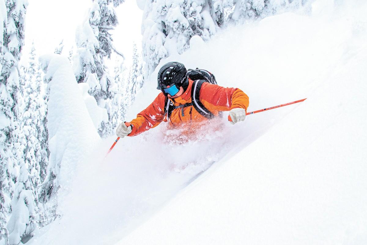 Skiing the Monashee Mountains. - BOB LEGASA PHOTO